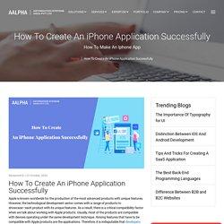How To Create An iPhone Application Successfully
