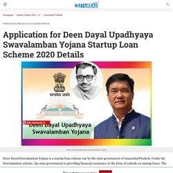 Application for Deen Dayal Upadhyaya Swavalamban Yojana Startup Loan Scheme 2020 Details