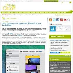 Créer une application iPhone/iPad
