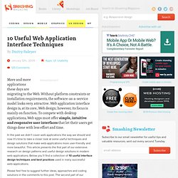 10 Useful Web Application Interface Techniques - Smashing Magazi