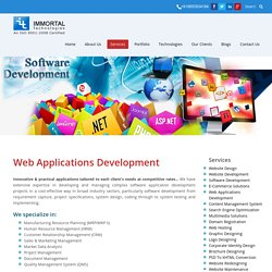 Web Application Development- Immortal Technologies Pvt Ltd