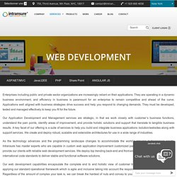 Web Application Designing and Development Services Company