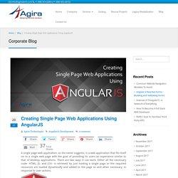 Creating Single Page Web Application using AngularJS