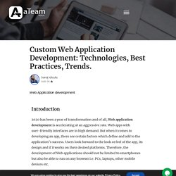 Get specialized Custom website development services