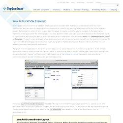 SWA Default Application Example