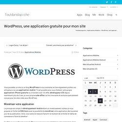 WordPress, une application gratuite pour mon site