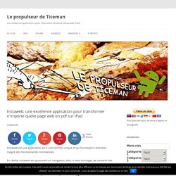 Instaweb: une excellente application pour transformer n'importe quelle page w...