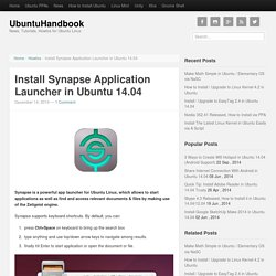 Install Synapse Application Launcher in Ubuntu 14.04