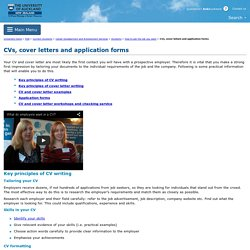CVs, cover letters and application forms - The University of Auckland