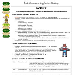 Ecole élémentaire d'application Pershing - CAFIPEMF