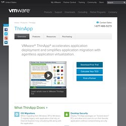 ThinApp (formerly Thinstall), Application Virtualization - VMware