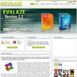 Application-Virtualisation | Evalazer