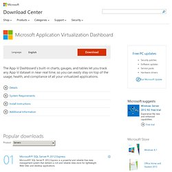 Download details: Microsoft Application Virtualization Dashboard