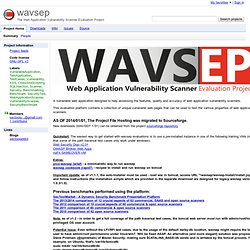 wavsep - Web Application Vulnerability Scanner Evaluation Project