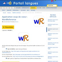 Application coup de coeur en LANGUES