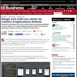 09/12/14 Google sort enfin son atelier de création d'applications Android via