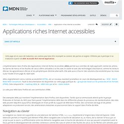 Applications riches Internet accessibles