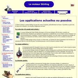 Les applications actuelles du moteur Stirling