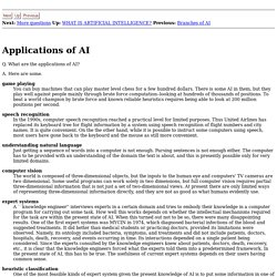 Applications of AI