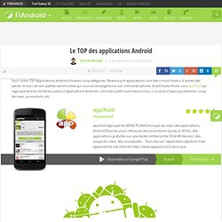 Le TOP des applications Android