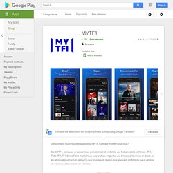 MYTF1 – Applications Android sur Google Play