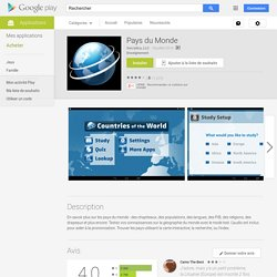 Pays du Monde – Applications Android sur GooglePlay