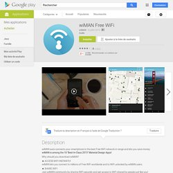 wiMAN Free WiFi – Applications Android sur Google Play