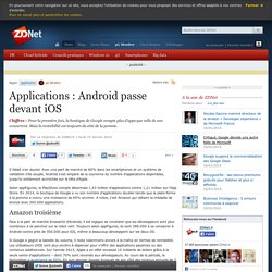 Applications : Android passe devant iOS