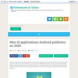 Mes 10 applications Android préférées en 2020