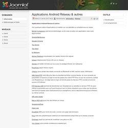 launay - séances reseau - et Applications Android Réseau & autres