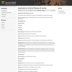 Applications Android Réseau & autres
