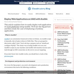 Deploy Web Applications on IAAS with Ansible - Cloud Academy Blog