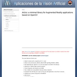 ArUco: a minimal library for Augmented Reality applications based on OpenCV