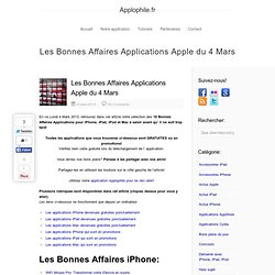 Les Bonnes Affaires Applications Apple du 4 Mars