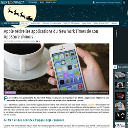 Apple retire les applications du New York Times de son AppStore chinois