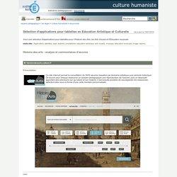 culture humaniste - Sélection d'applications pour tablettes en Education Artistique et Culturelle