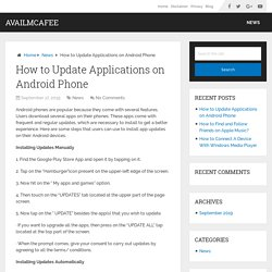 How to Update Applications on Android Phone - AvailMcAfee