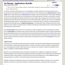 Art Therapy - Applications, Benefits - Mental, Feelings, Visual, and Artwork - JRank Articles