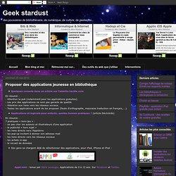 Proposer des applications jeunesse en bibliothèque