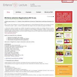 #Critères sélection #applications #4-12 ans