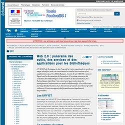 Web 2.0 : panorama des outils, des services et des applications pour les bibliothèques — Enseigner avec le numérique