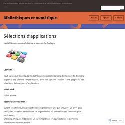 Sélections d'applications – Bibliothèques et numérique