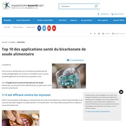 Top 10 des applications santé du bicarbonate de soude alimentaire