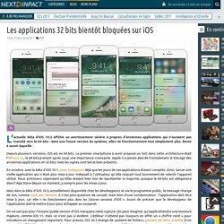 Les applications 32 bits bientôt bloquées sur iOS