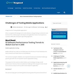Challenges of Testing Mobile Applications - Social Bookmarking Site