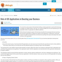 Role of iOS Applications in Boosting your Business