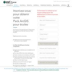 Esri France - Applications SIG et cartographiques - Inscription au programme