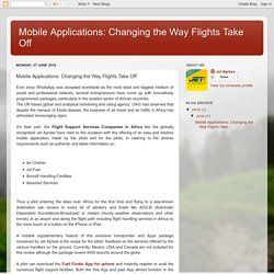 Mobile Applications: Changing the Way Flights Take Off