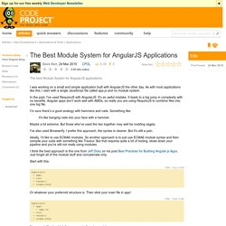 The Best Module System for AngularJS Applications
