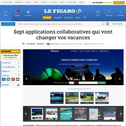 Sept applications collaboratives qui vont changer vos vacances